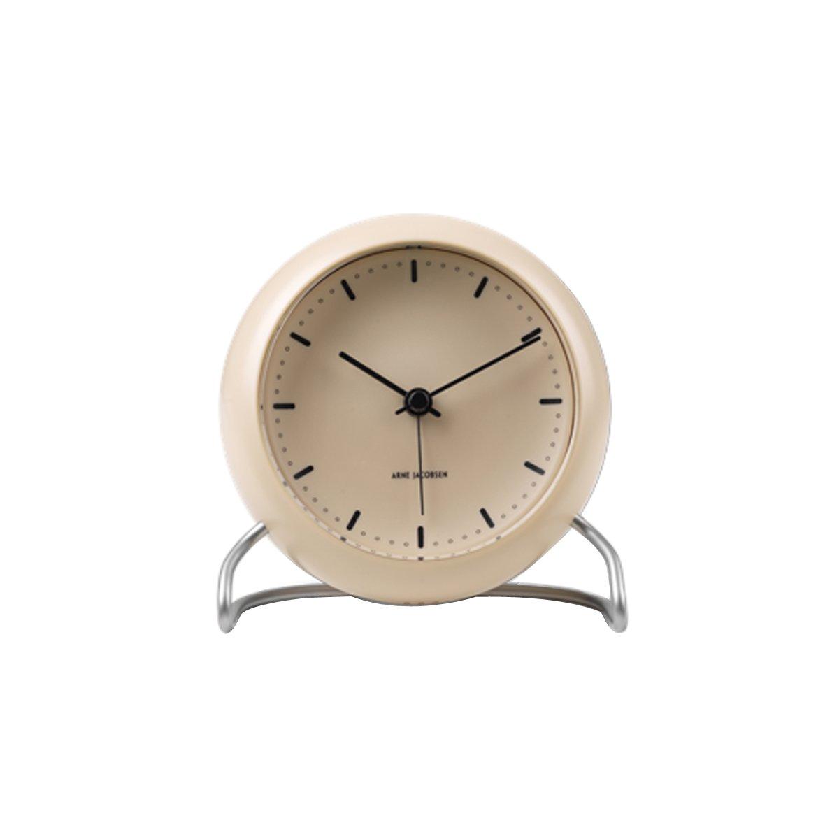 Arne Jacobsen - City Hall Table Clock - Sand (43693)