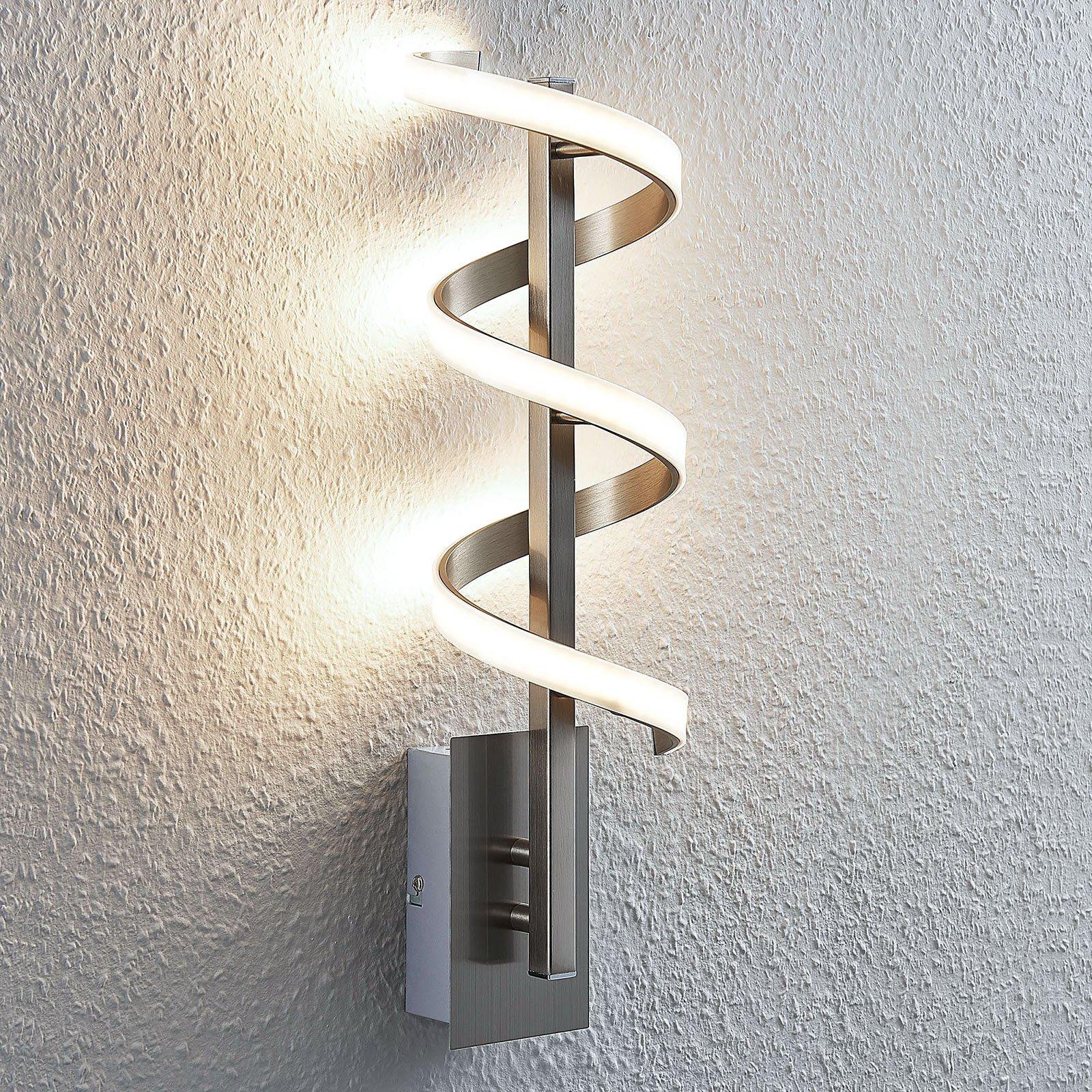 LED-vegglampe Pierre rundformet