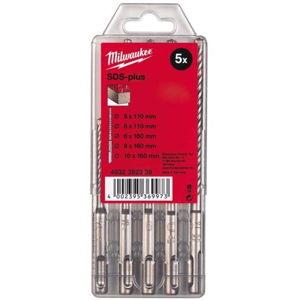 Milwaukee M2 4932352338 Hammerborsett SDS-Plus, 2-skjærs, 5 deler