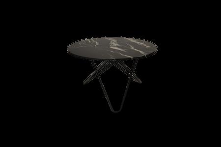 Big O Spisebord Svart/Svart Marmor Ø120