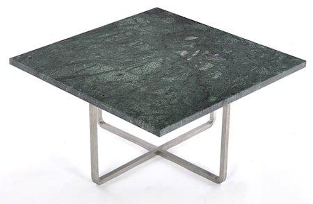 Ninety 60x60 sofabord - Grønn indio/stomme rustfritt stål