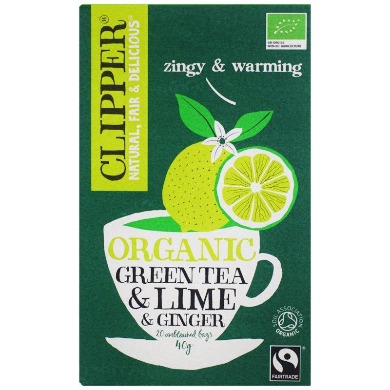 "Luomu Vihreä Tee ""Lime & Ginger"" 40g - 33% alennus"