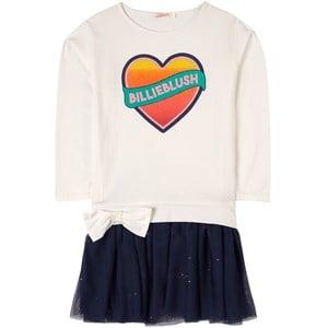 Billieblush Heart Logo Klänning Vit 2 år