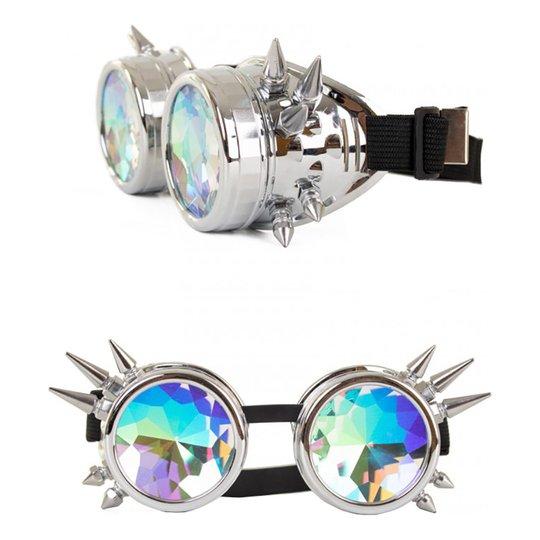 Steampunk Glasögon Silver - One size
