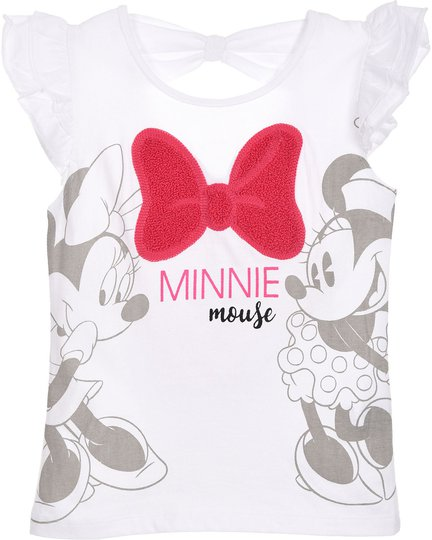 Disney Minni Mus T-Skjorte, White, 8 År