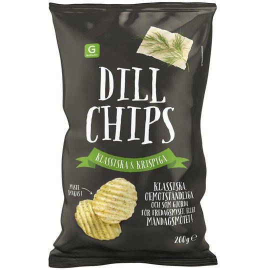 Chips Dill 200g - 44% rabatt