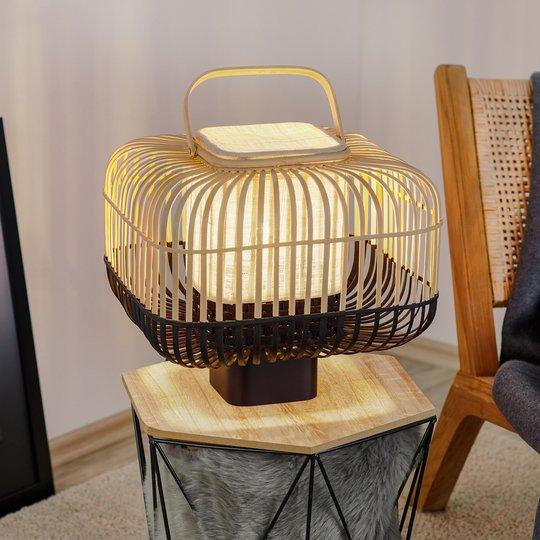Forestier Bamboo Square S -pöytälamppu, musta