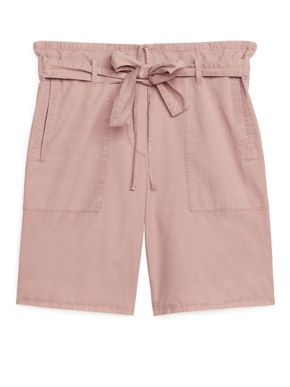 Paper Bag Shorts - Orange