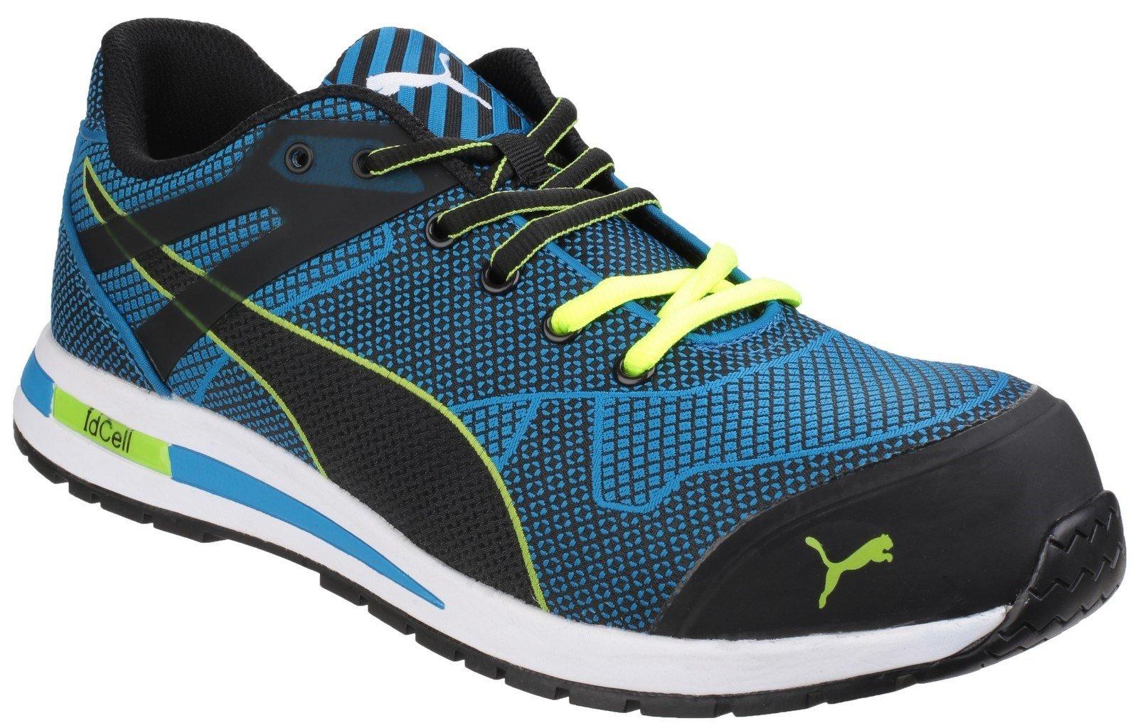 Puma Safety Unisex Blaze Knit Low Lace up Trainer Blue 24858 - Blue 6