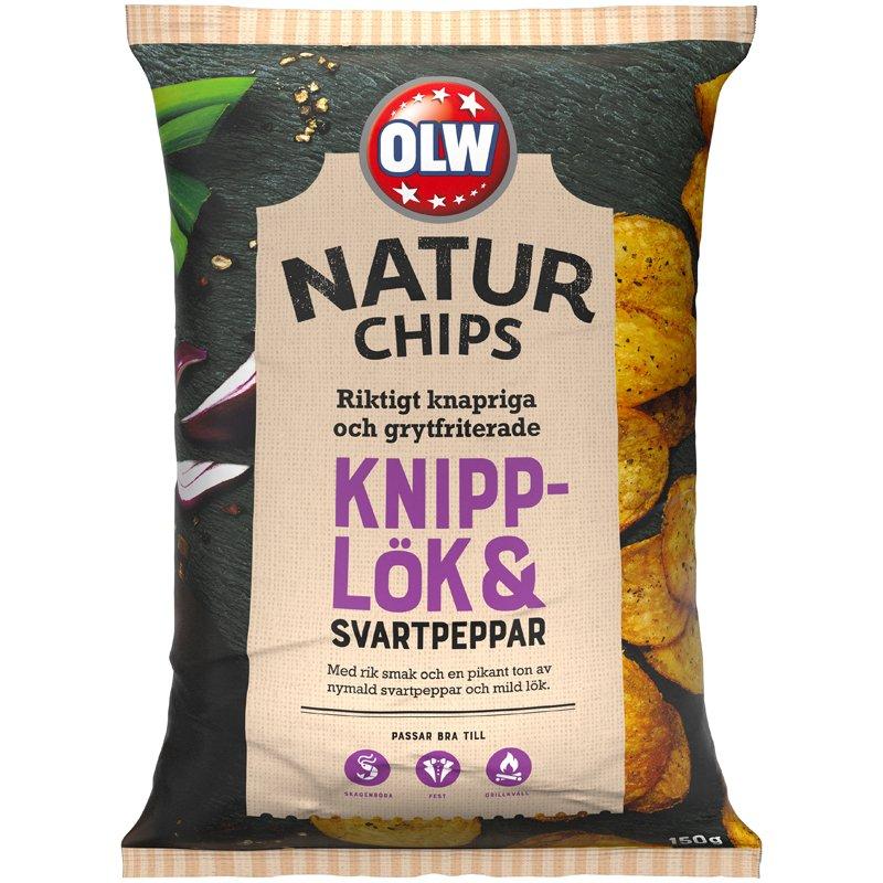 Naturchips Knipplök & Svartpeppar - 25% rabatt