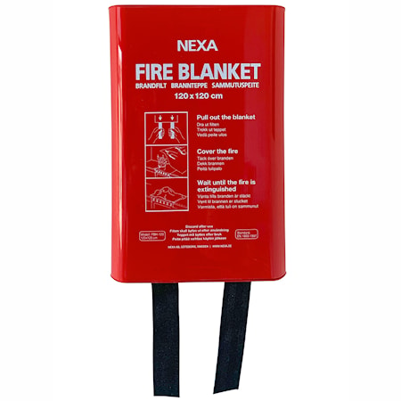 Nexa Fire & Safety FBD-120 Brandfilt Röd 120x120 cm Hårdbox