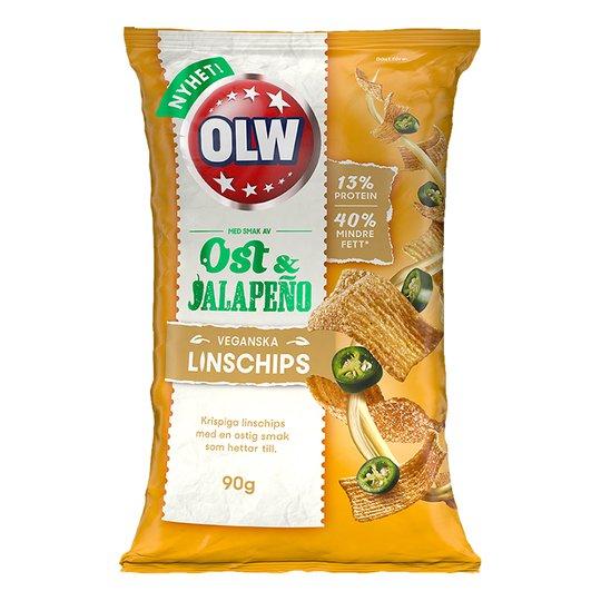 OLW Linschips Ost & Jalapeno - 90 gram