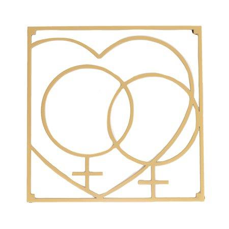 Love collection Gryteunderlag QQ Love 18 x 18 cm Gull