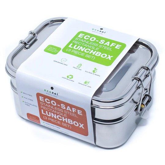 Ecozoi Bento Läckagesäker Matlåda Rostfritt stål 3-i-1, 1,77 L