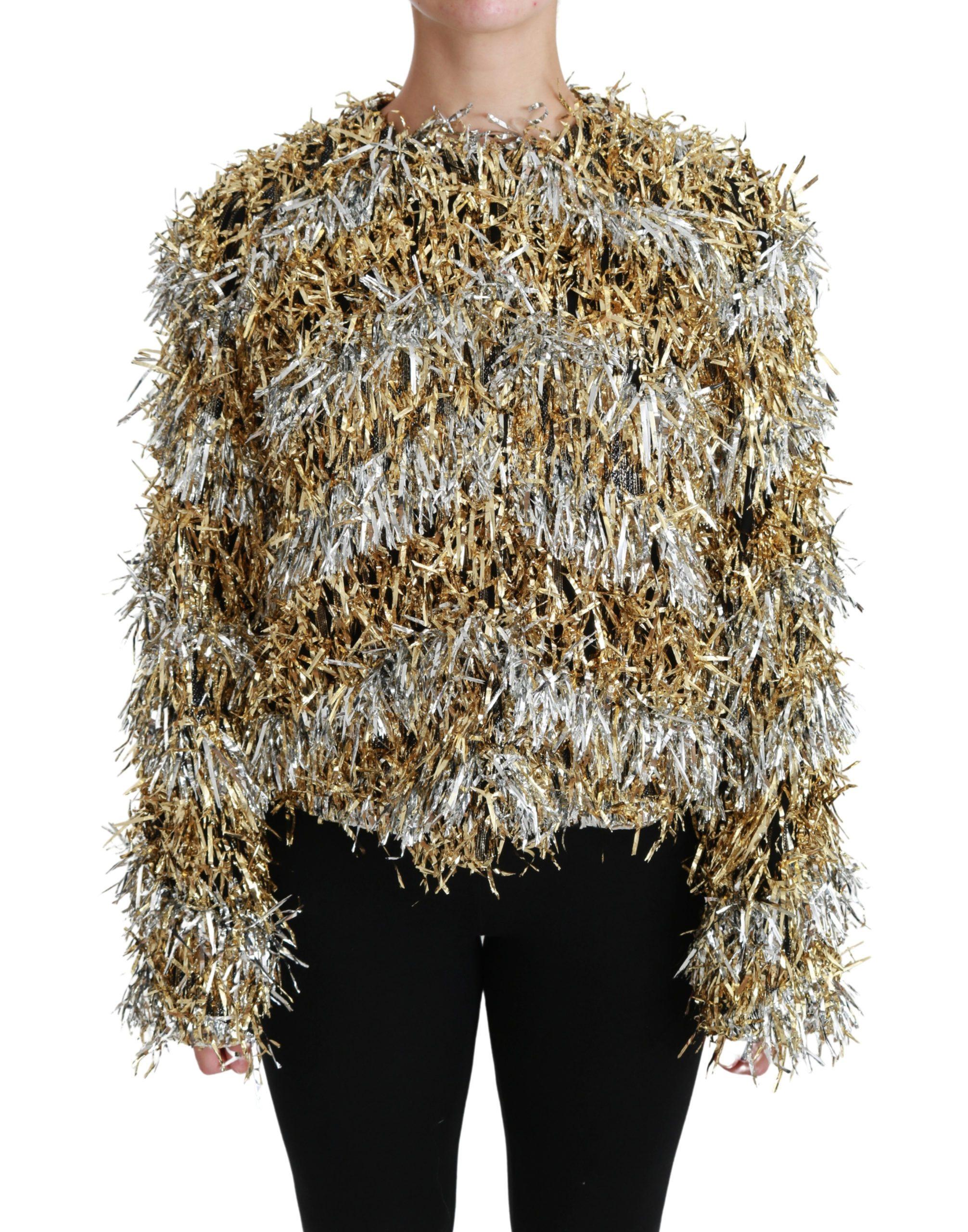 Dolce & Gabbana Women's Cardigan Jacket Gold JKT2583 - IT40|S