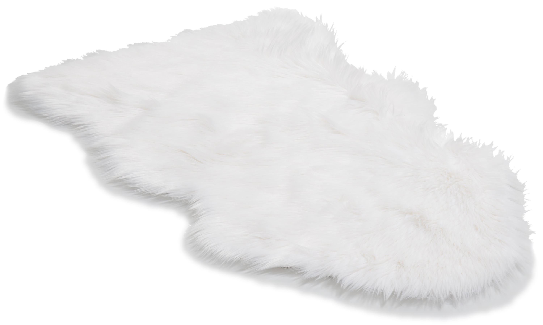 Koselig teppe hvit - saueskinn i kunststoff