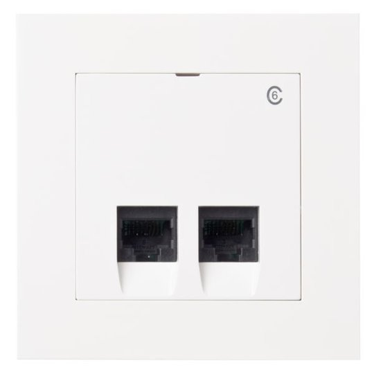 Elko Plus Modulaarinen pistorasia Upotettava 2 x 8 K6 valkoinen