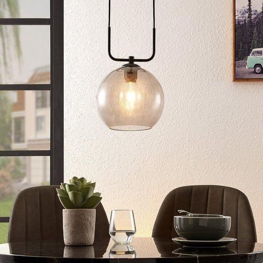 Lindby Dasita -riippuvalo, savulasia, 1-lamppuinen