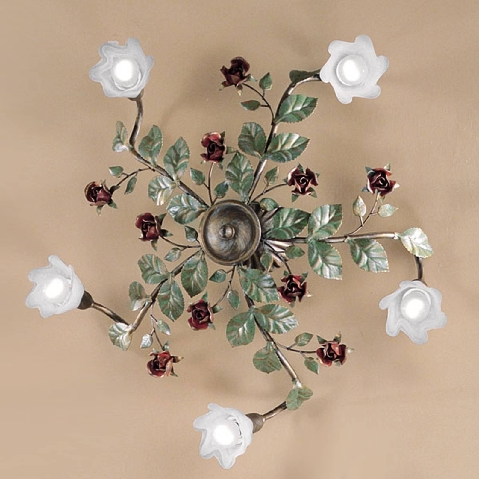Rosaio-kattolamppu, pyöreä, 5-lamppuinen
