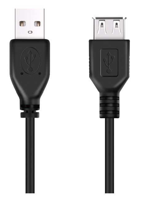 DON ONE CABLES - USBE300 BLACK - USB A TO USB A EXTENSION CABLE 300CM