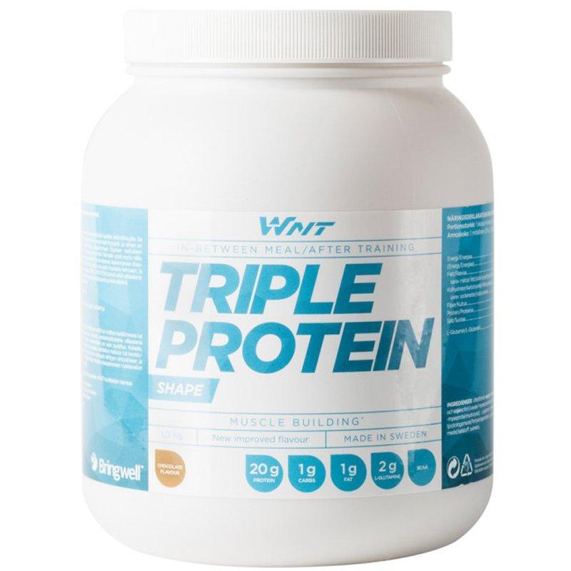 "Proteiinijauhe ""Triple Protein"" Suklaa 1kg - 34% alennus"