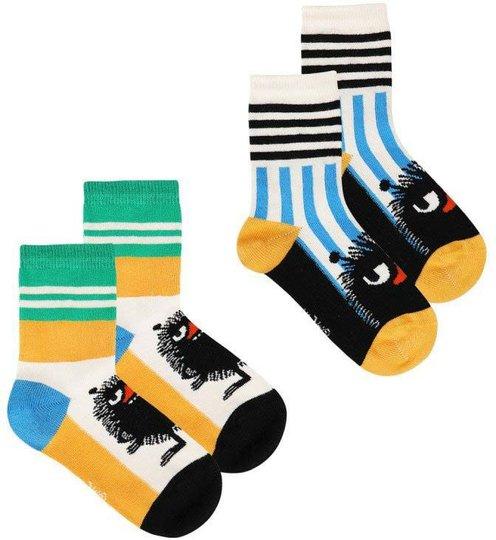 Moomin Stinky Sokker 2-pack, Hvit, 23-26