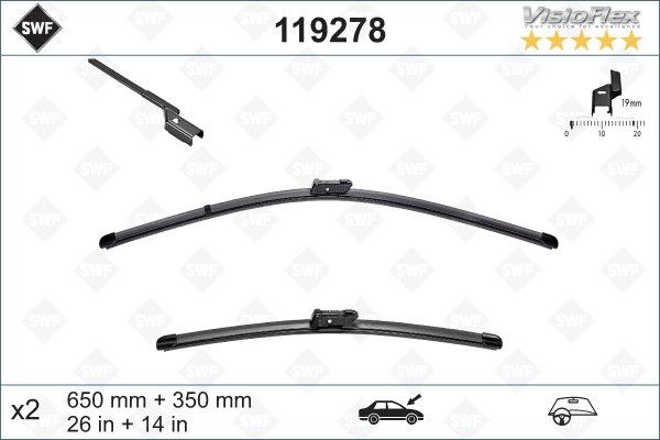 Flatbladesats 650/350
