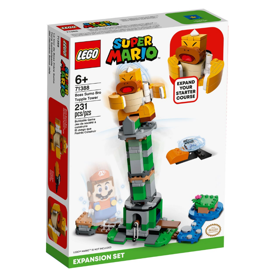 LEGO Super Mario - Sumo Bro boss' tipping tower expansion set (71388)