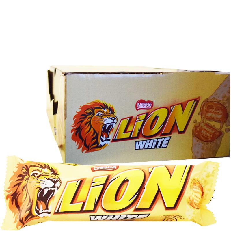"Hel Låda Godisbars ""Lion White"" 40 x 42g - 51% rabatt"