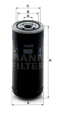 Öljynsuodatin MANN-FILTER W 962/32