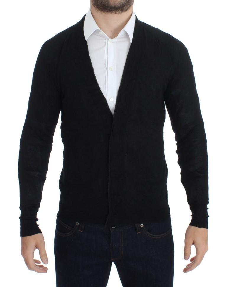 Costume National Men's Fine Wool Button Cardigan Black SIG17806 - S