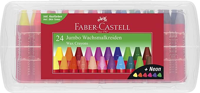Faber-Castell - Jumbo Wax Crayons, 24 pc (120034)