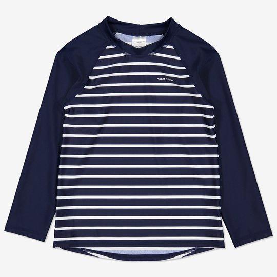 Stripet uv-trøye mørkblå