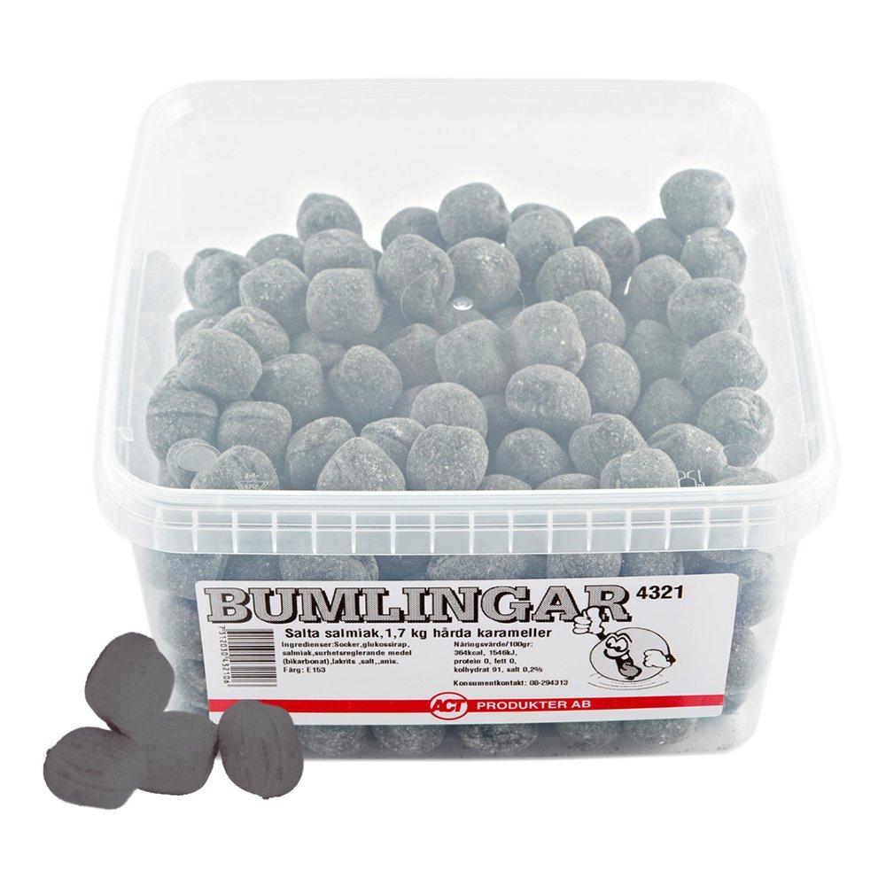 Bumlingar Salta Salmiak - 1,7 kg