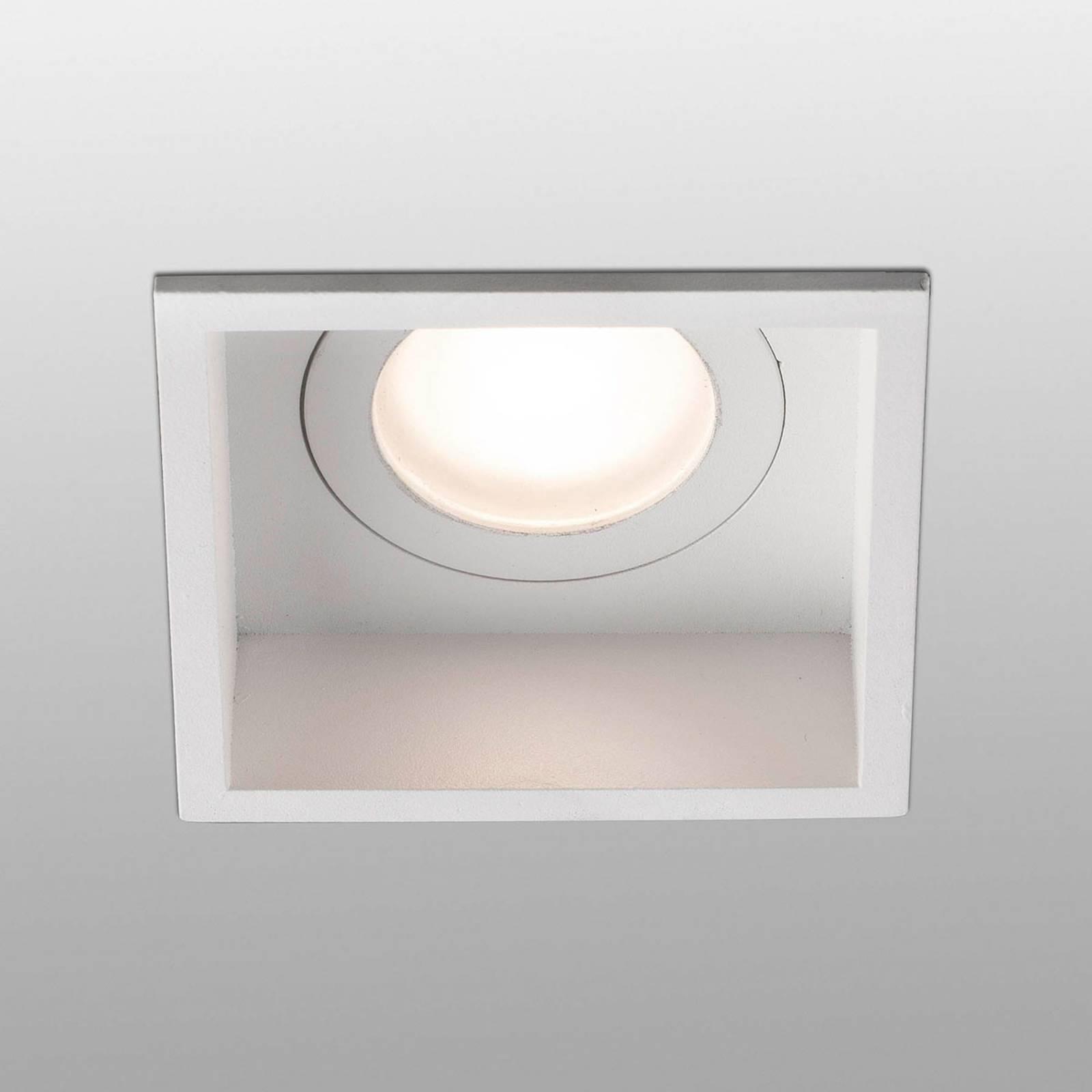 Uppokohdevalo Hyde 1-lamp. kulmikas IP44 valkoinen