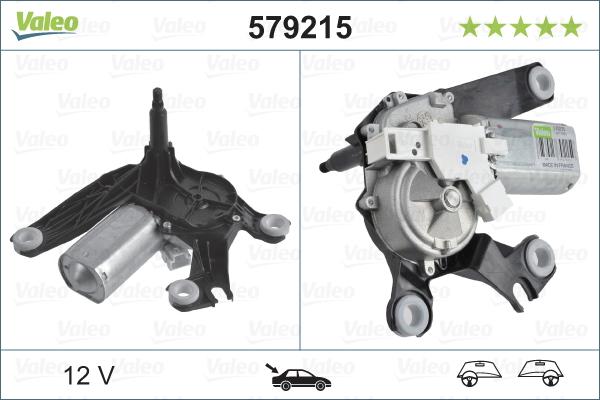 Pyyhkijän moottori VALEO 579215