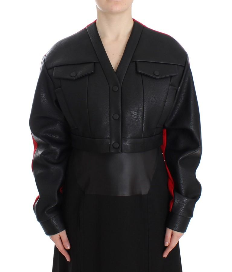 KAALE SUKTAE Women's Short Croped Jacket Black SIG12604 - IT40 S