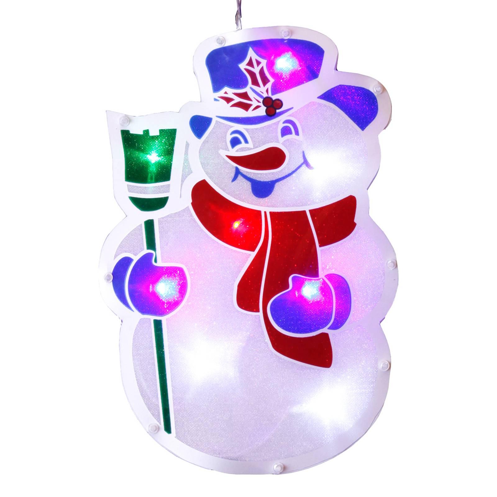 Schneemann-LED ikkunakoriste - lumiukko