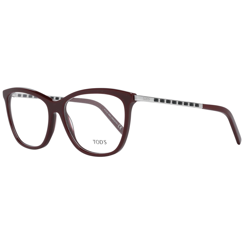 Tod's Women's Optical Frames Eyewear Burgundy TO5198 56069