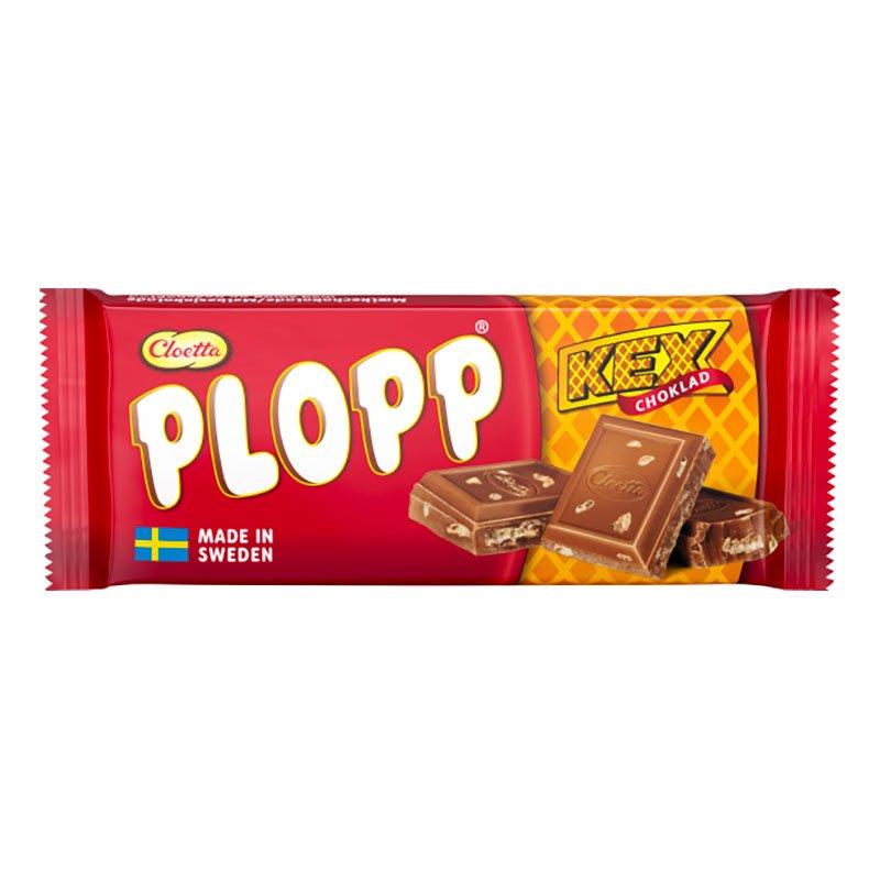 Plopp Mjölkchoklad Kexchoklad - 75 gram