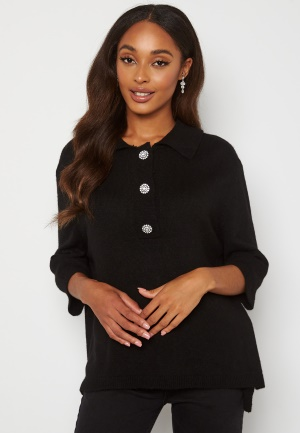 ONLY Paloma 2/4 Polo Pullover Black M
