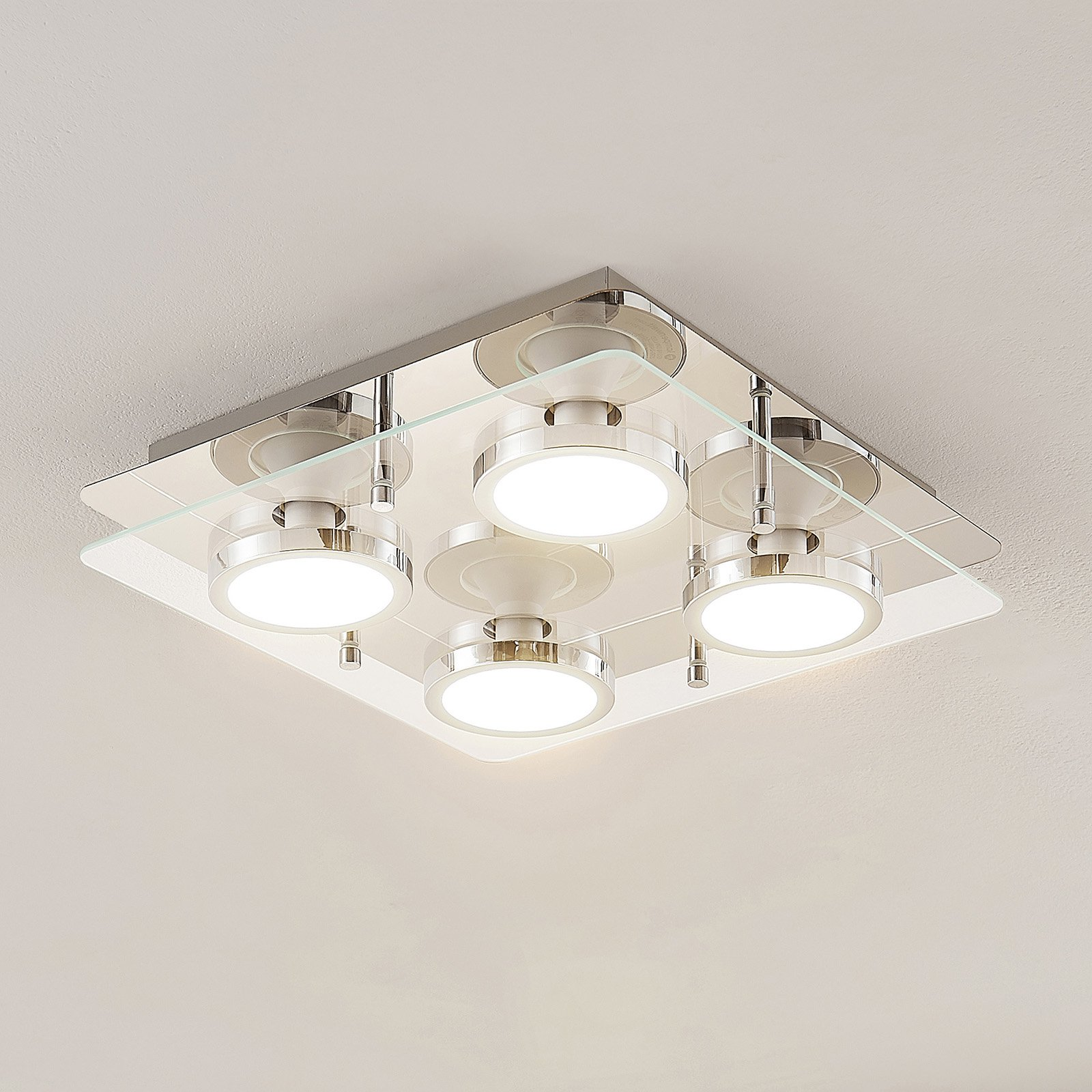 Lindby Gabryl LED-taklampe, fire lyskilder