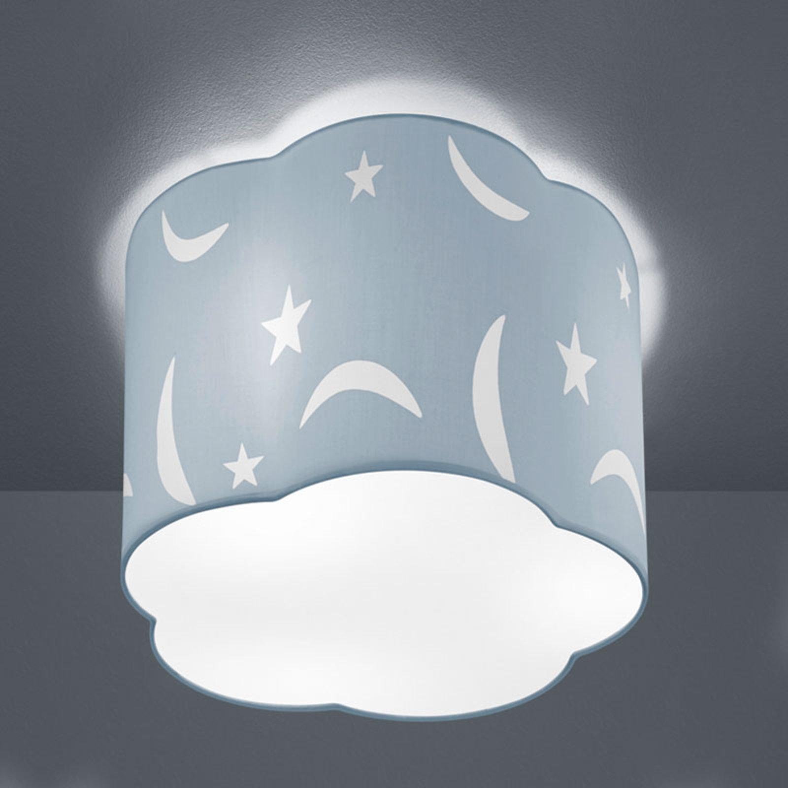 Taklampe Moony 25 cm pastellblå