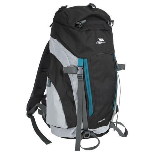 Trespass Unisex Camping Backpack Various Colours Trek - Ash 33 Litre
