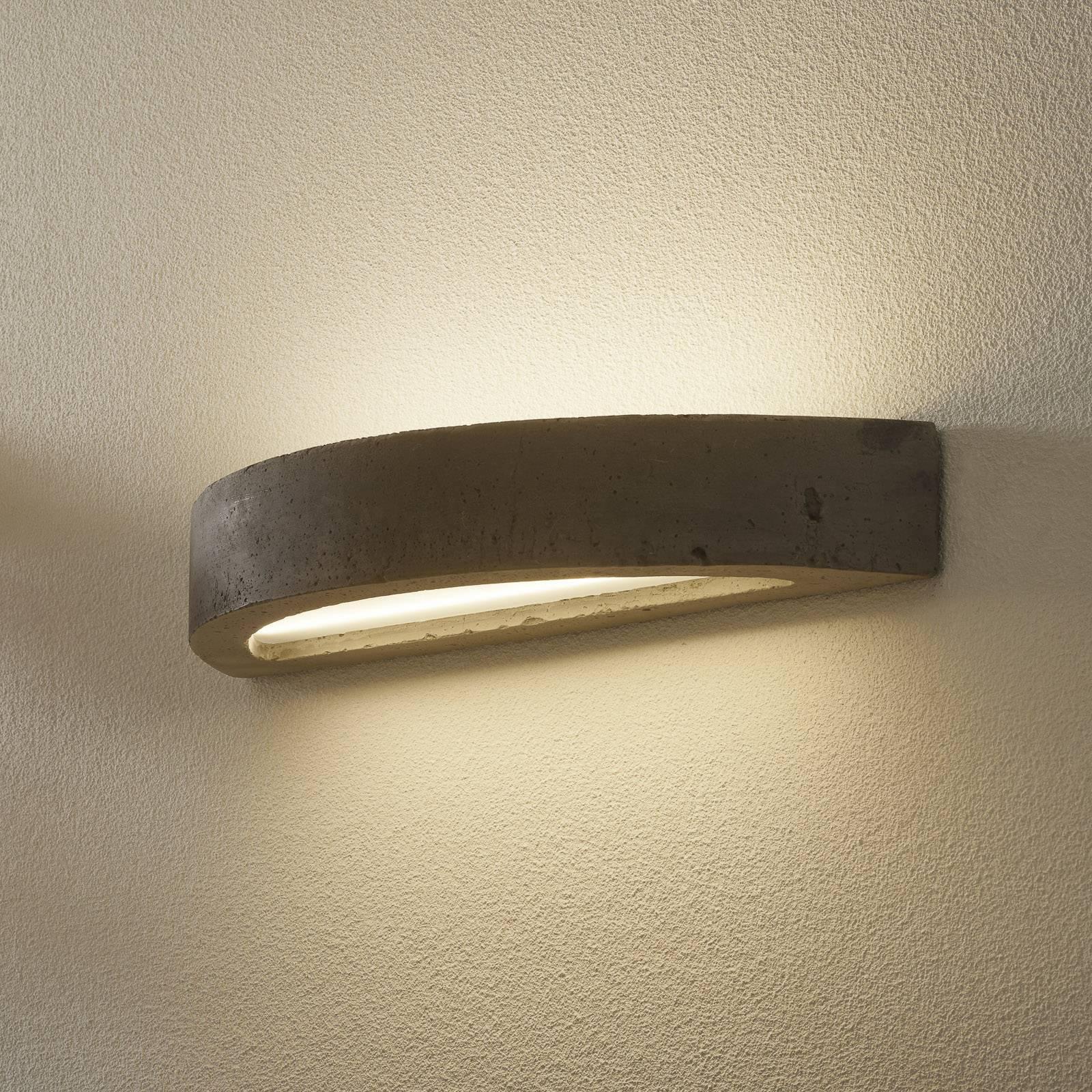 LED-vegglampe 2455 betong 3 000 K dimbar