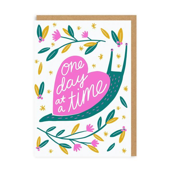 One Day At A Time Snail Greeting Card
