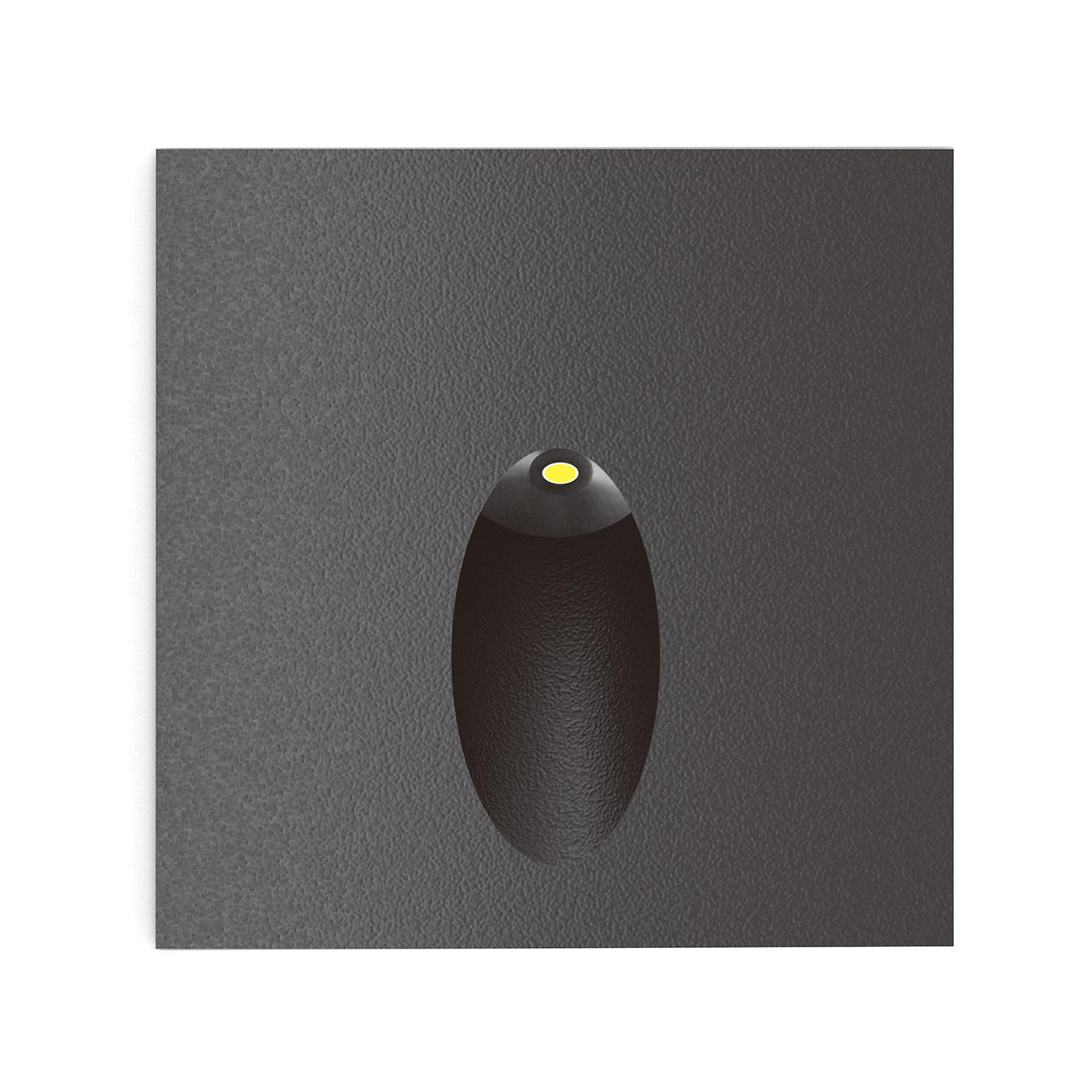 Lucande Finnleya -LED-seinäuppovalaisin, kulmikas