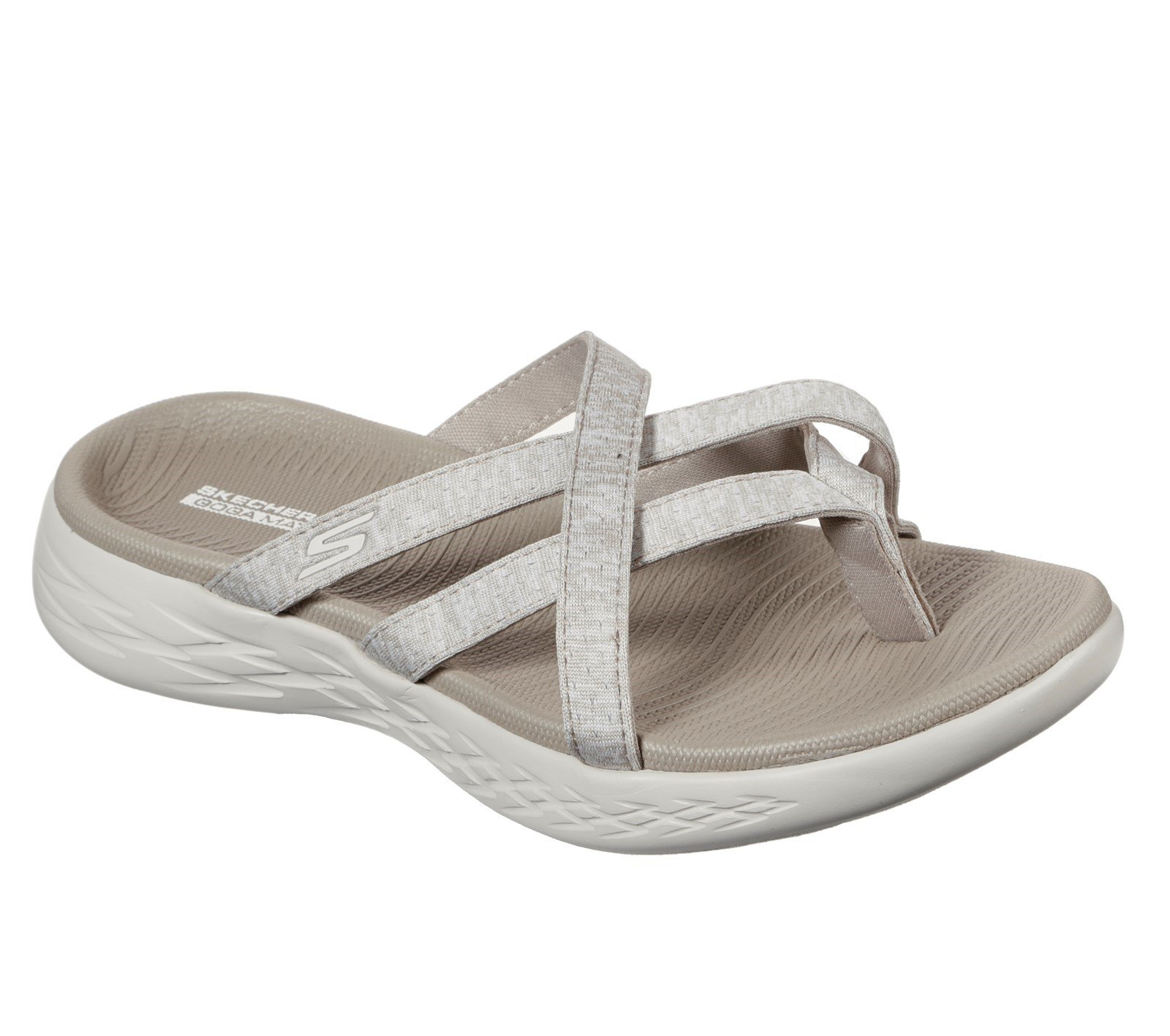 Skechers Women's On the GO 600 Dainty Sandal Taupe 32158 - Taupe 3