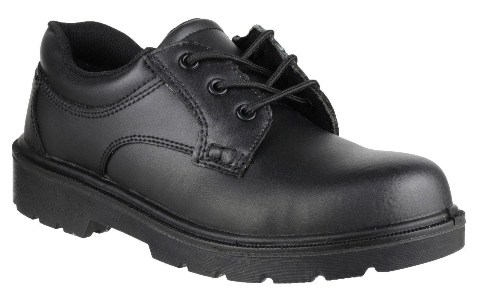 Amblers Unisex Safety Gibson Lace Shoe Black 01616 - Black 4