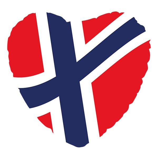 Folieballong Hjärta Norska Flaggan
